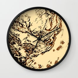 Wooden Marble Wall Clock