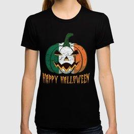 Irish Flag Halloween Pumpkin Jack o Lantern Costume T-shirt