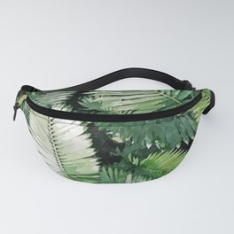 Life Is Better With Palm Trees, Tropical Nature Jungle Painting, Watercolor Nature Bohemian Plants Fanny Pack