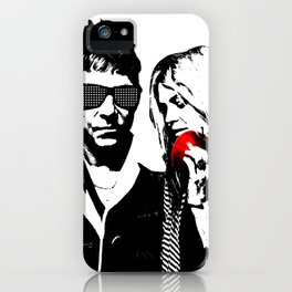the Kills - Black and White with red Apple iPhone Case