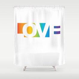 The Rainbow Love Shower Curtain