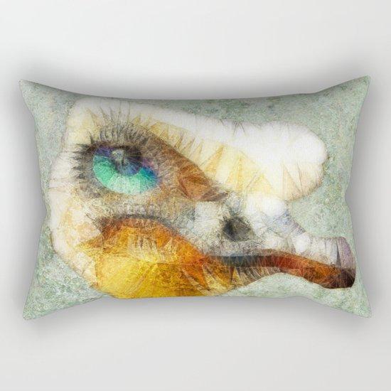 abstract ostrich Rectangular Pillow