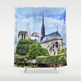 Paris - Kathedrale Notre-Dame Shower Curtain