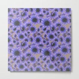 Purple Sunflowers Metal Print