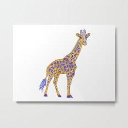 Giraffic Metal Print