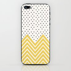 Chartreuse Chevron and dots  iPhone & iPod Skin