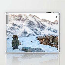 Kea parrot bird in the snow mountains of New Zealand Laptop & iPad Skin