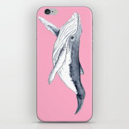 Cute Baby humpback whale pink for girls iPhone Skin