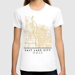 SALT LAKE CITY UTAH CITY STREET MAP ART T-shirt