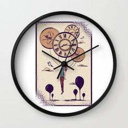 Abstract Clock Girl Wall Clock