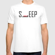 iSleep (v2) Mens Fitted Tee White MEDIUM