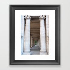 Roman colomns Framed Art Print