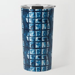 Cyanotype zig zag  Travel Mug