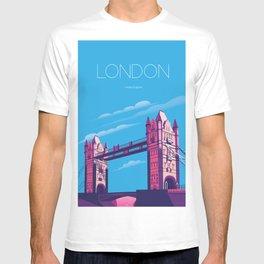 London travel poster T-shirt