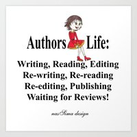 Authors Life by Lisy Art Print