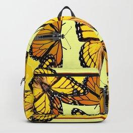 YELLOW & ORANGE MONARCH BUTTERFLIES PATTERNED ART Backpack
