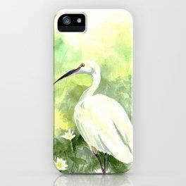Bird & Lotus iPhone Case