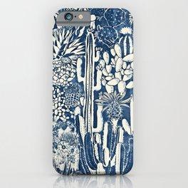 Indigo cacti iPhone Case