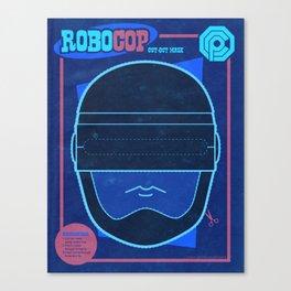 Robocop Mask Canvas Print