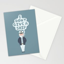 Indifferent Captain Stationery Cards