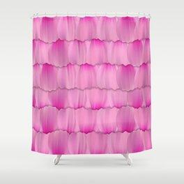 Gentle Pink Purple Flower Petal Pattern Shower Curtain