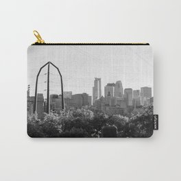 Minneapolis, Minnesota Black and White Skyline | City Photography Carry-All Pouch