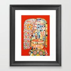 Girl with the flower in hair Framed Art Print