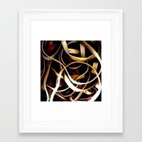 bands Framed Art Prints featuring Rubber Bands by Carsick T-Rex