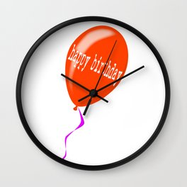 Birthday Balloon Wall Clock