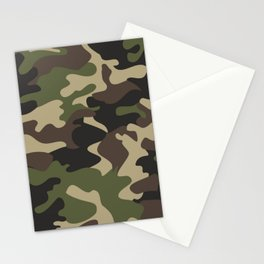 Military camouflage Stationery Cards