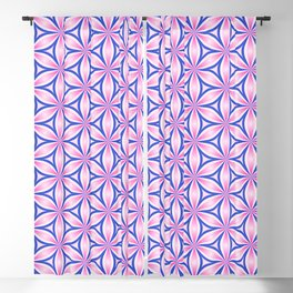 Bright floral pattern - repeating, continues leaf shapes Blackout Curtain