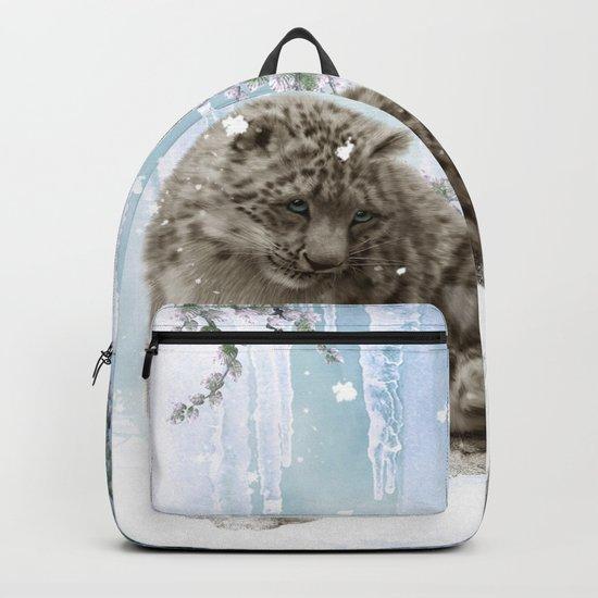 Wonderful snowleopard Backpack