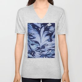 Dark and Bright and Blue Unisex V-Neck