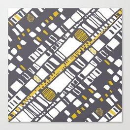Diagonal layers yellow Canvas Print