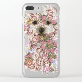 Vintage doggy Bichon frise.DISCOVER Clear iPhone Case