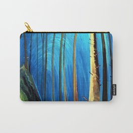 Big Sky Country, Forest Morning Blue portrait painting by Emily Carr Carry-All Pouch
