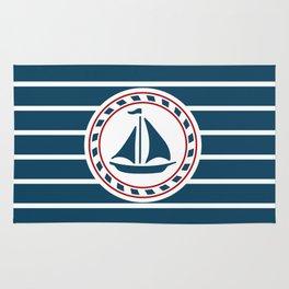 Sailing boat Rug