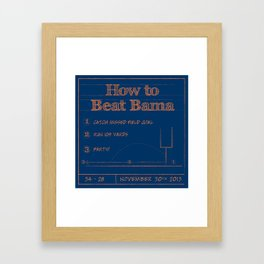 How to beat Bama Framed Art Print