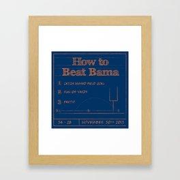 How to beat Bama Framed Art Print