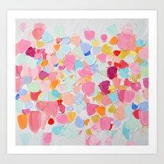Amoebic Confetti Art Print