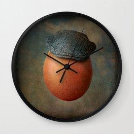 Vintage Egg in Harris Tweed Cap Wall Clock