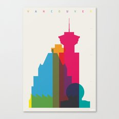 Shapes of Vancouver. Accurate to scale. Canvas Print