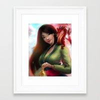 mulan Framed Art Prints featuring Mulan by ChrySsV