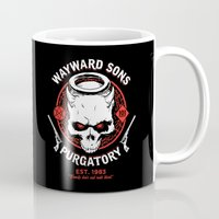 sons of anarchy Mugs featuring Wayward Sons by Manny Peters Art & Design