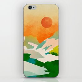 mountains landscape abstract iPhone Skin