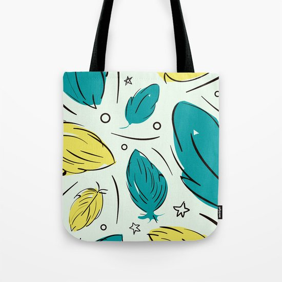 Accent Leaves Tote Bag