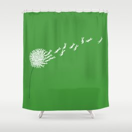 Escape from the dandeLION Shower Curtain