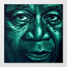 freeman in green Canvas Print