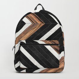 Urban Tribal Pattern No.1 - Concrete and Wood Backpack
