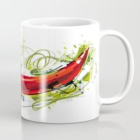 vietnam Mugs featuring Vietnam Chilli by Vietnam T-shirt Project